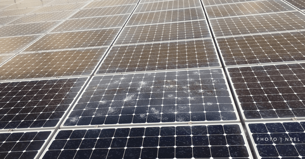 solar panels in a hailstorm