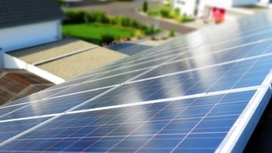 solar modules from the roof perspective