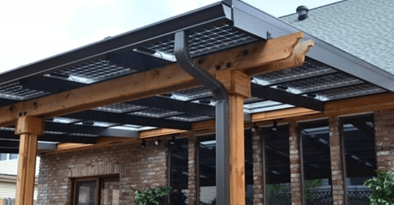 Outdoor green energy pergola