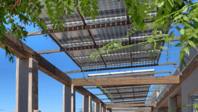 Green energy outdoor pergola