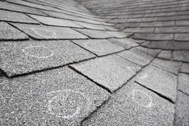 Hail damage isn't always obvious. Hail damaged roof showing little wear or tear.