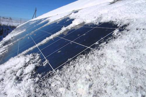 solar energy in the snow, solar works in the winter, does solar energy work in the snow, solar and snow